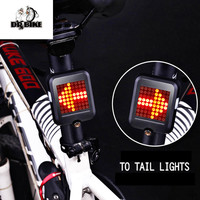 Dr Bike USB Rechargeable Bicycle Lamp Tear Tail Lamp Automatic Turn Signal Bike Light With 64