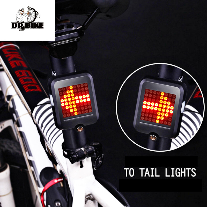 64 LED USB Rechargeable Dynamic LED Turn Light Tear Tail Bike Lamp Automatic Bicycle Signal Cycling Accessories Mountain Bike bicycle light headligh glare t rechargeable led 10w mountain bike bicycle riding equipment accessories