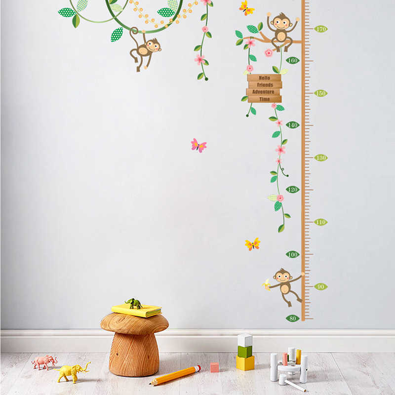 Detail Feedback Questions about Monkeys Height Measure Wall Stickers ... 3aa989bbd88a