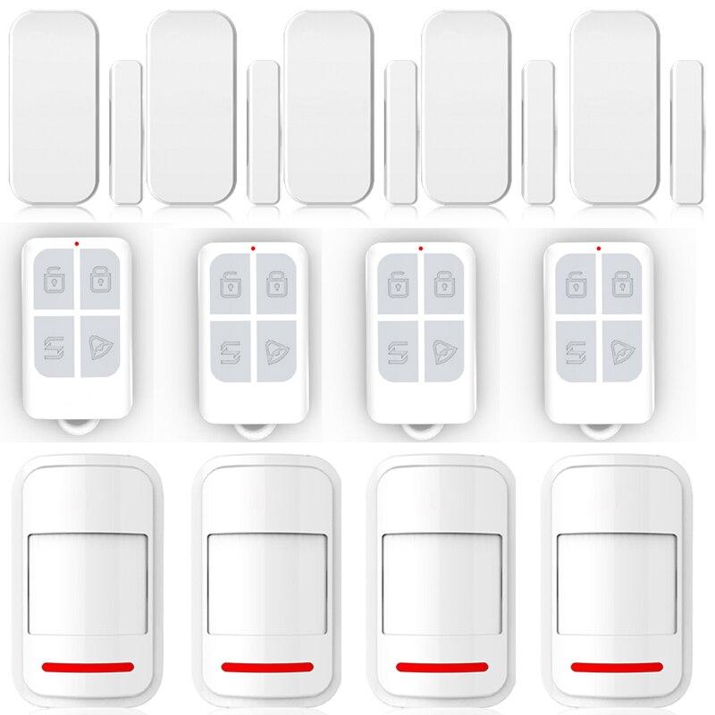 433MHz Intelligent Wireless Door Gap Window Sensor Detector Wireless PIR Motion Sensor Infrared Detector Remote Control Keychain