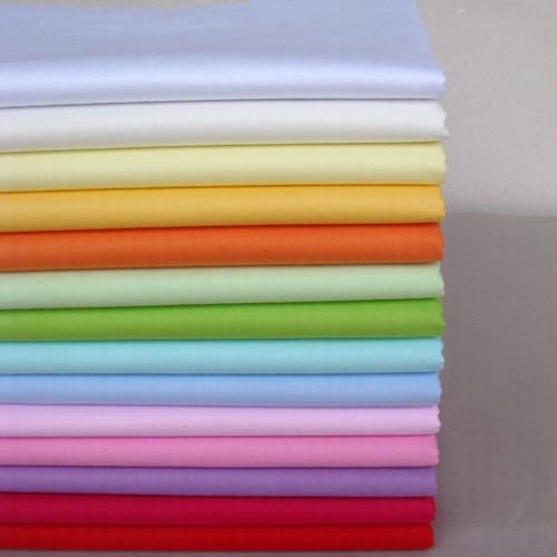 14 pcs solid color cotton fabric patchwork, for diy sewing patchwork home textiles 40cm*50cm