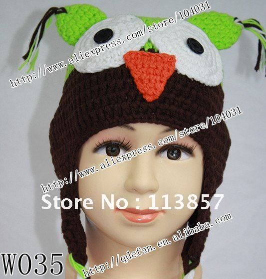 Free Shipping 10lot 100 Cotton Animal Hat Crochet Patterns Owl
