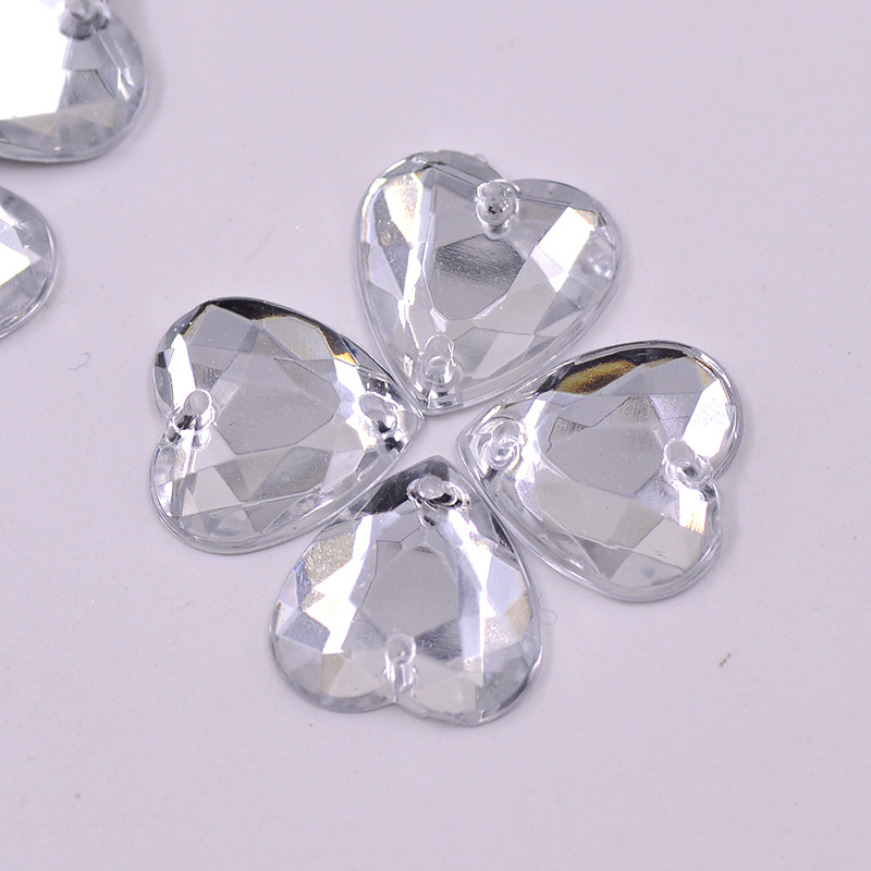 Aliexpress.com   Buy 16mm Sewing Clear Crystal Heart Shape Rhinestone Sew  On Acrylic Gems Flatback Strass Crystal Stones for Clothes from Reliable ... ba8fffba5517