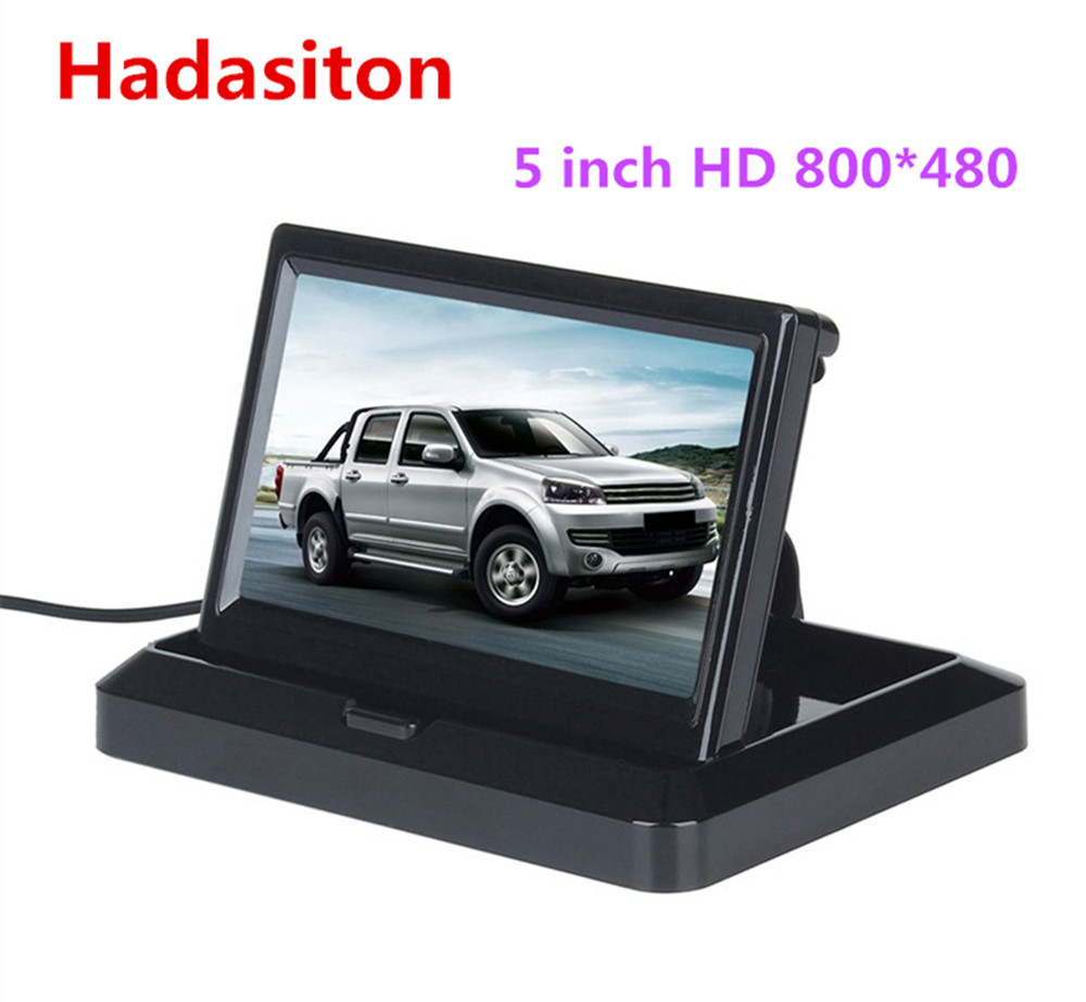 5 inch TFT LCD Color Screen Car monitor Rearview Reversing parking monitor Foldable design