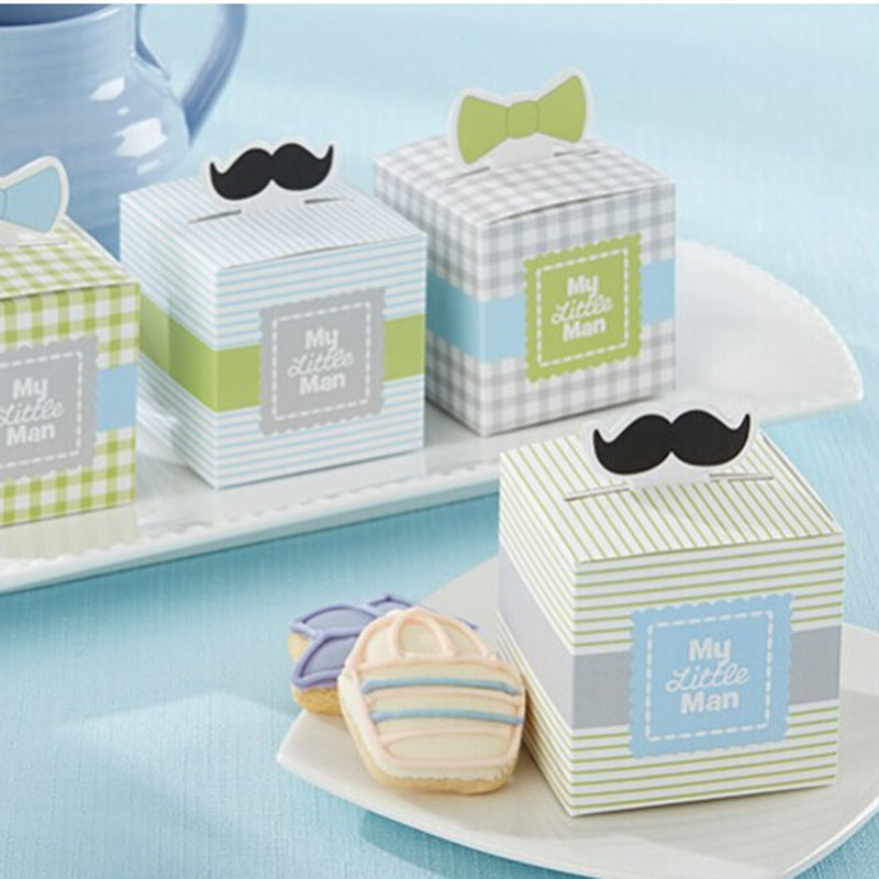 70pcslot New My Little Man Wedding Candy Box Gift Packaging