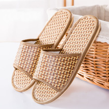 IVI cane Shoes Summer Flax open toe linen Slipper Home Indoor Antiskid Men And Women Rattan Mat Bottom Cool Slippers