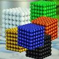 216 unids 5 mm multicolor neodimio bolas magnéticas esferas cubo imanes rompecabezas bloque del cubo Magico regalo de cumpleaños