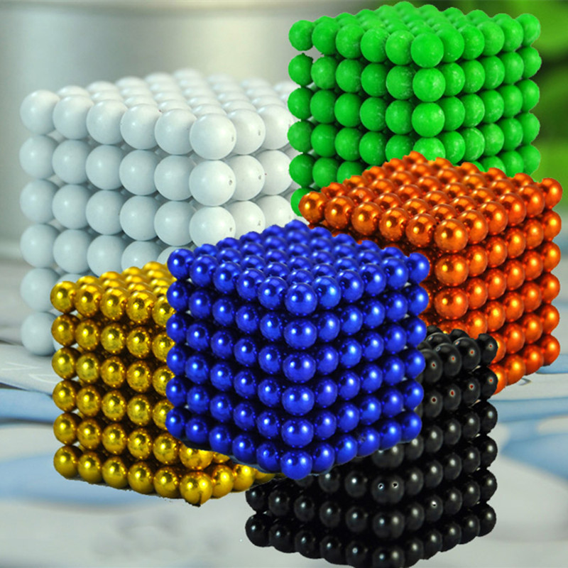 216pcs 5mm Multi-colored Neodymium Magnetic Balls Spheres Beads Magic Dice Magnets Puzzle Block Dice Magico Birthday Current