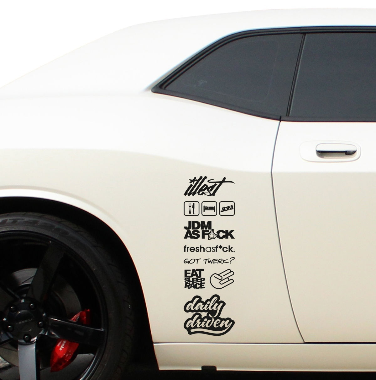 Choose Size /& Color Daily Driven Long Vinyl Sticker Decal JDM Race Drift Stance