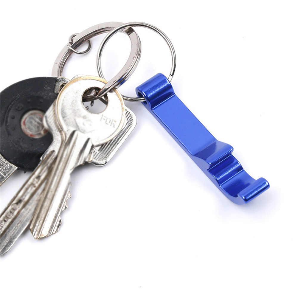 แบบพกพาที่เปิดขวดเบียร์พวงกุญแจ 4 In 1 อลูมิเนียมที่เปิดขวดเบียร์สามารถ 6 สีงานแต่งงานโปรดปรานของขวัญ