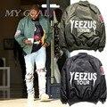 Jaquetas jaqueta de Vôo MA1 Bape turnê edição limite Yeezy streetwear dos homens jovens De Beisebol Jaqueta Casual casaco de inverno Quente