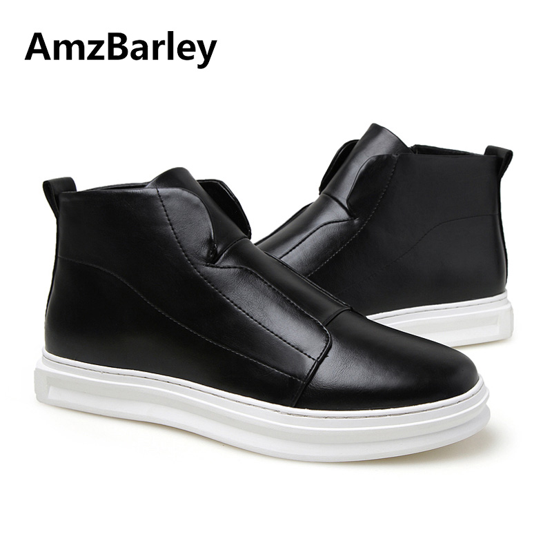 AmzBarley Mens Shoes Flat Hip Hop High Top Casual Ankle White Man Zipper Footwear Zapatos Hombre Autumn Winter Fashion gran epos 2017 new mens casual shoes man flats breathable fashion low high top shoes men hip hop dance shoes for male zapato