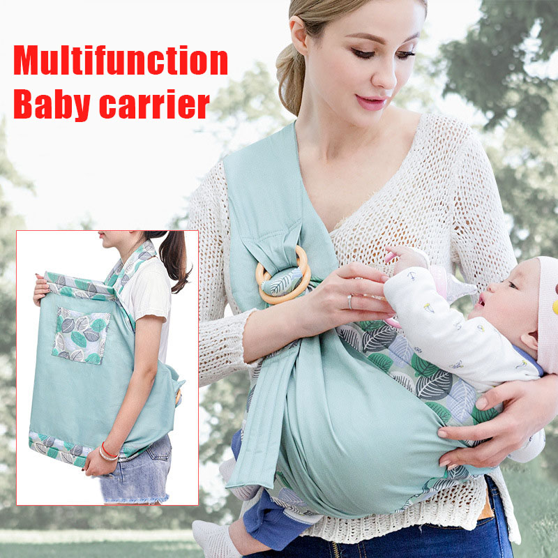 Newborn Wrap Carrier Sling Dual Use Infant Easy Wearing Carrying Sling BM88