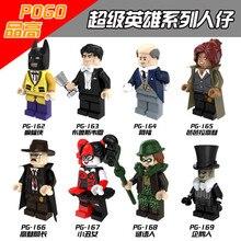 ขายเดียว Batman Bruce Wayne Riddler Alfred Barbara เพนกวิน Gordon Robin Harley Quinn Building ใช้งานร่วมกับ LEGO Movie