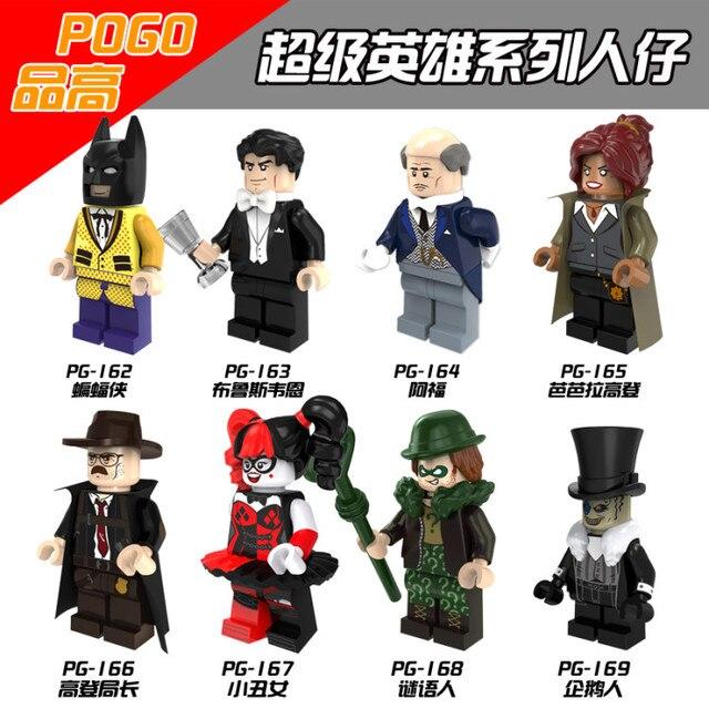 Singola Vendita Batman Bruce Wayne Enigmista Alfred Barbara Pinguino Gordon Robin Harley Quinn Building Compatibile Con Lego Movie