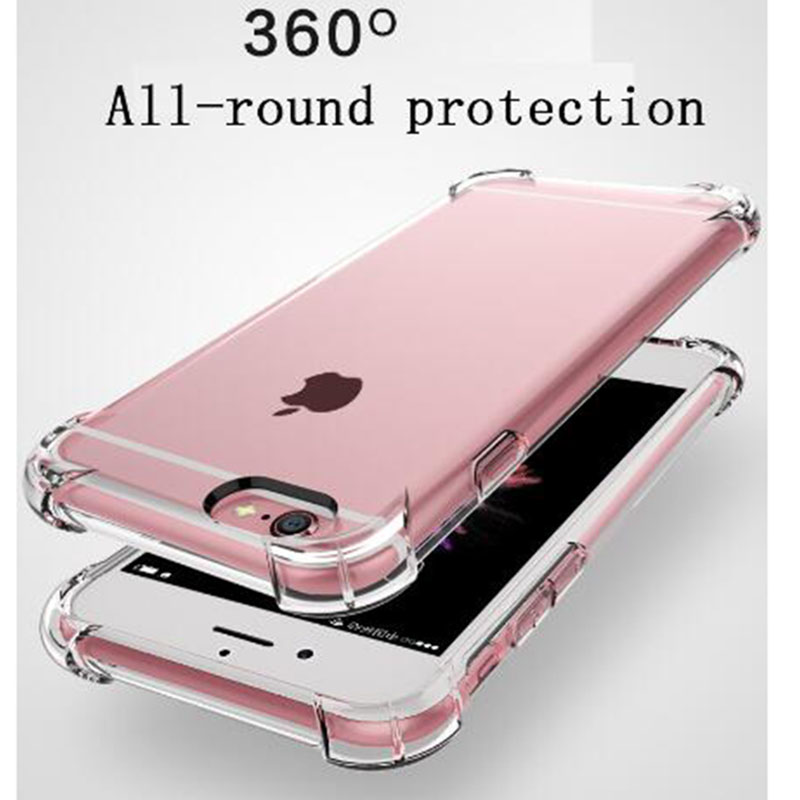 Stylish shockproof bumper transparent silicone phone case for iPhone 11 X XS XR Max 8 7 6 6S Plus protection back