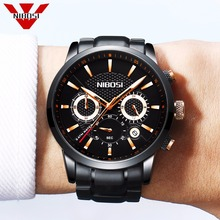 NIBOSI Official Men's Unique Luxury Business Quartz Watch Casual Fashion Classic Analog Man Wristwatch Calendar Date Waterproof