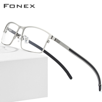 Titanium Alloy Optical Glasses Frame Men Ultralight Square Myopia Prescription Eyeglasses 2019 Male Metal Full Screwless Eyewear