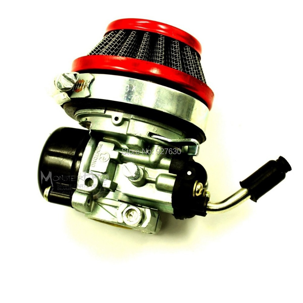 19MM Two Stroke <font><b>Carburetor</b></font> <font><b>Carb</b></font> <font><b>Air</b></font> <font><b>Filter</b></font> <font><b>Set</b></font> <font><b>For</b></font> 50 80CC Motorized Bicycle 60MM Pocket Bike <font><b>Air</b></font> Cleaner <font><b>Set</b></font> Mini <font><b>Quad</b></font> 37 70CC