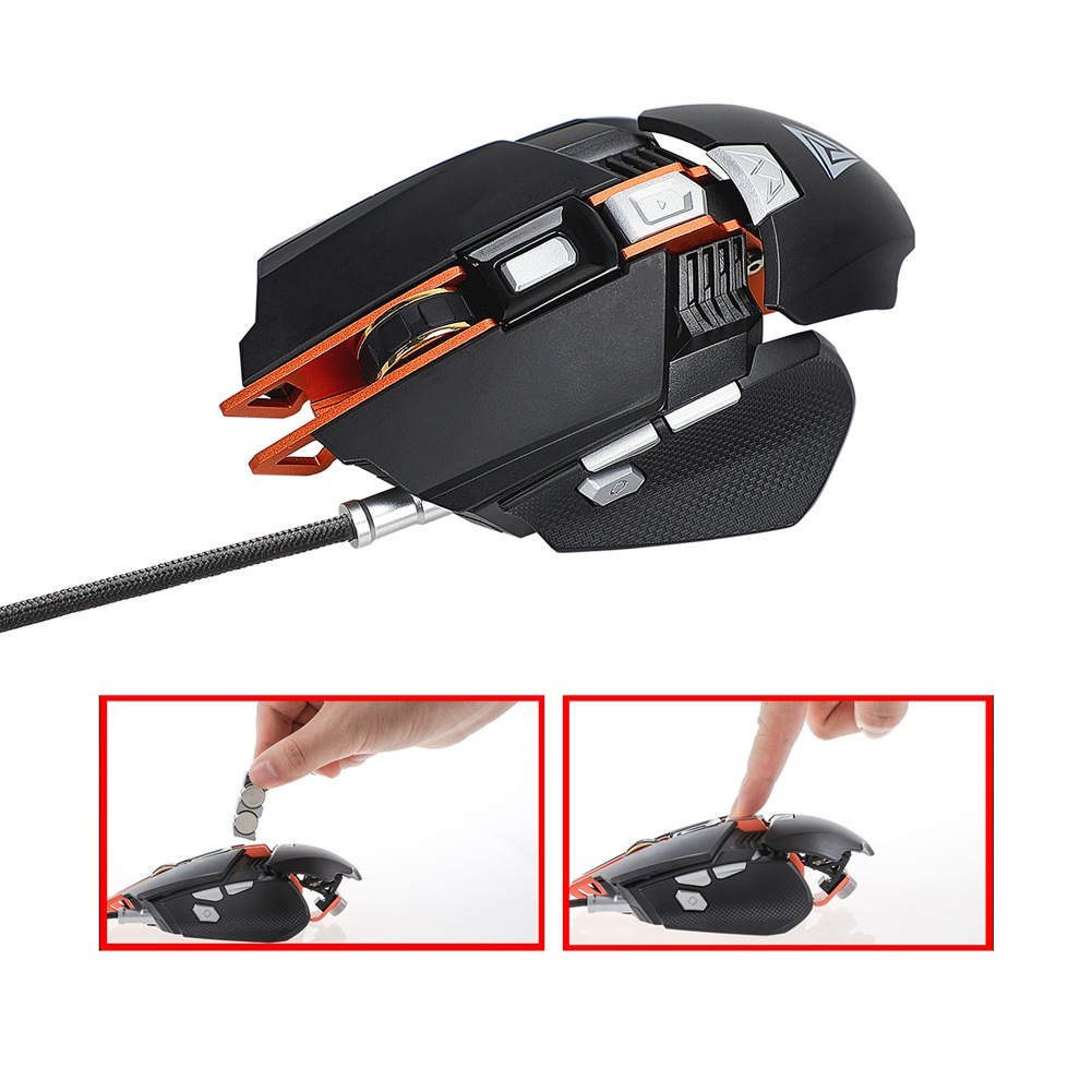 New New Professional RGB Mechanical Mouse 7 Programmable Buttons Adjustable Wrist Support Gaming Mice for Computer PC