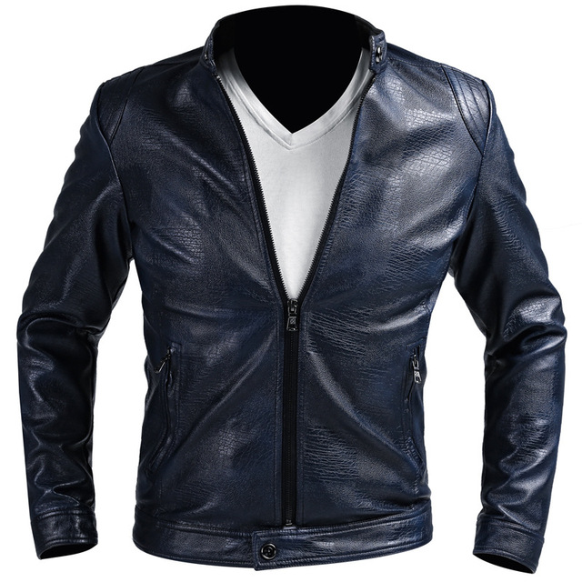 2016 New Arrivals Winter Autumn Mens PU Leather Jacket Men Black Motorcycle Leather Jackets Overcoat Jaqueta Masculina Couro 993