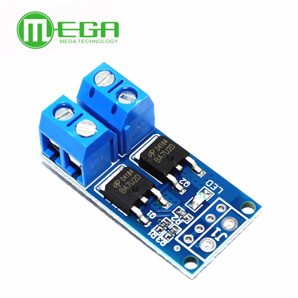 High Power 15A 400W MOS FET Trigger Switch Drive Module PWM Regulator Electronic Switch Control Panel DC 5V-36V Module