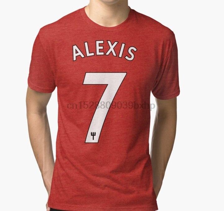 Alexis Sanchez Manchester Utd  No.7 Printed Adult T-Shirt Unisex S-XL Unofficial