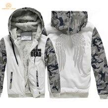 HAMPSON LANQE TV Show The Walking Dead Brand Hoodie Men 2019 Winter Jackets Fleece Sweatshirt Mens Thicken Hooded Coats 4XL