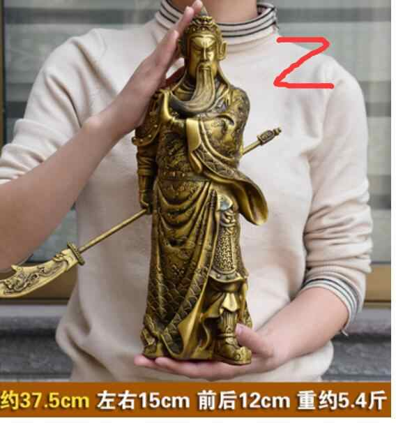 SHUN brass select Style copper Guan Gong statue Wu Caishen Opening gift Lucky Town house Decoration Feng Shui Crafts