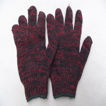 Темно-красные трикотажные хлопковые перчатки для садоводства рабочие защитные перчатки