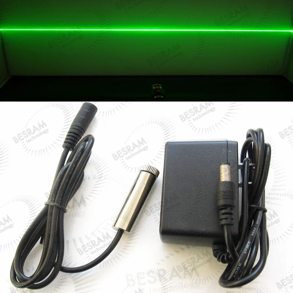 12x45mm Focusable 50mw 520nm Green Laser line Diode Module w Adapter Osram LD focusable 30mw 50mw 90mw 120mw 515nm 520nm green laser dot line cross diode module w adapter 12x45mm osram ld