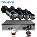 4 Canal 4 K 48 V POE NVR w 4 unids Último Chip HI3516D OV4689 4.0MP POE IP Cámara 2592*1520 Video de Vigilancia de Seguridad sistema