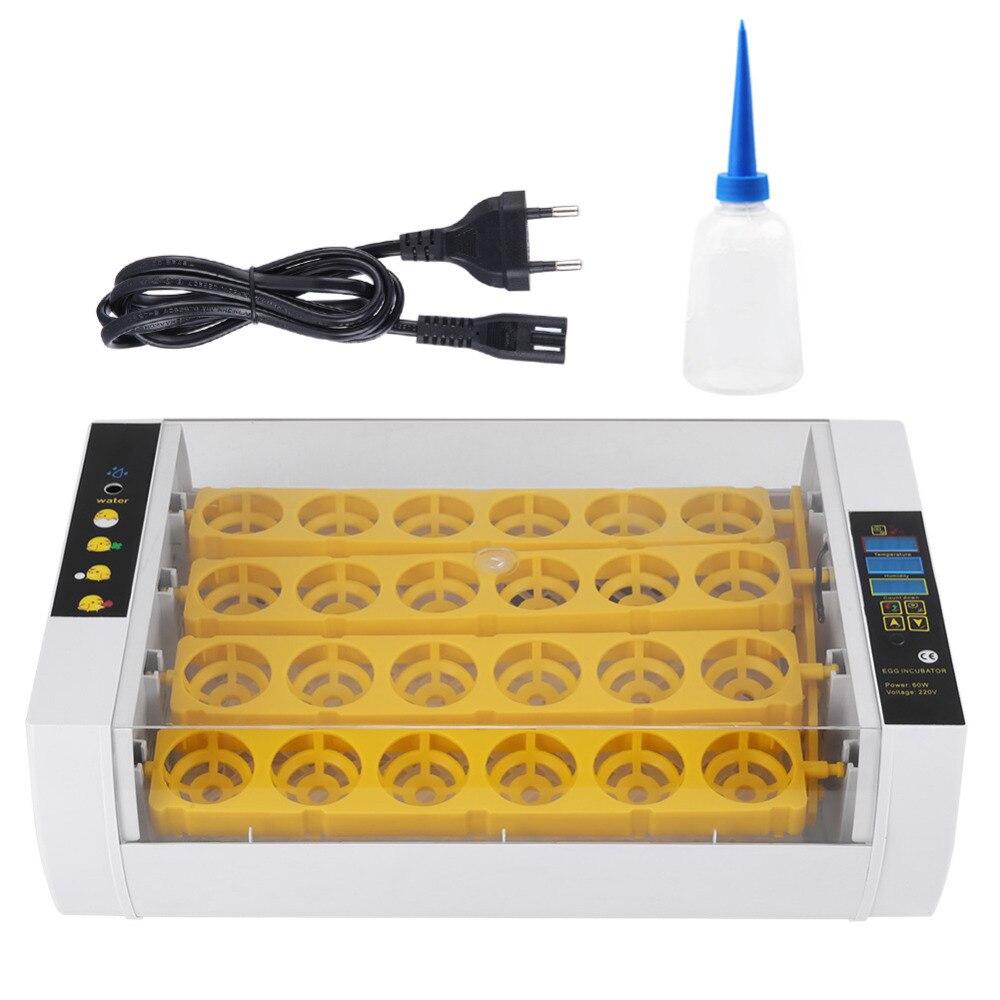 24 eier Inkubator Temperatur Control Digitale Automatische Huhn Küken Ente Hatcher Werkzeug Werkzeug-in Futter- und Wasserversorgung aus Heim und Garten bei  Gruppe 1