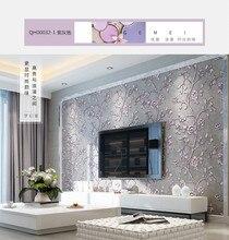 Q QIHANG Avrupa Tarzı Çevre Koruma 3D dokunmamış Oturma Odası Yatak Odası TV Arka Plan Duvar Kağıdı 10 M * 0.53 M = 5.3M2