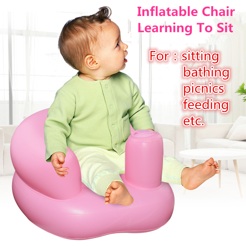 Baby Kids Inflatable Multi-functional Chair Seat Toys For children Learning To Sit Dinner Chair Bathroom Water Play Toys