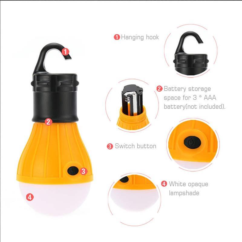 Camping en plein air lanterne tente Camping LED lampe suspendue .