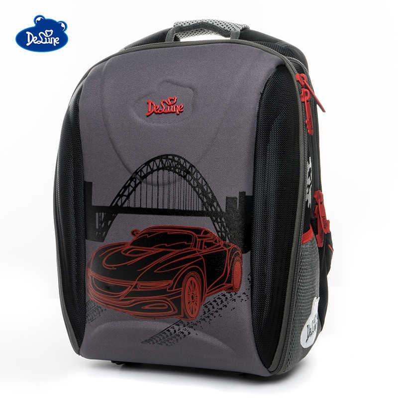 ecbee0b20e2e Delune Новый ортопедический школьный ранец для девочек модный бренд  первичный класс 1-5 мультфильм рюкзаки