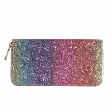 ФОТО luxury women long wallet sparkly sequined clutch glitter pu leather ladies phone bag card holder coin purse female wallets