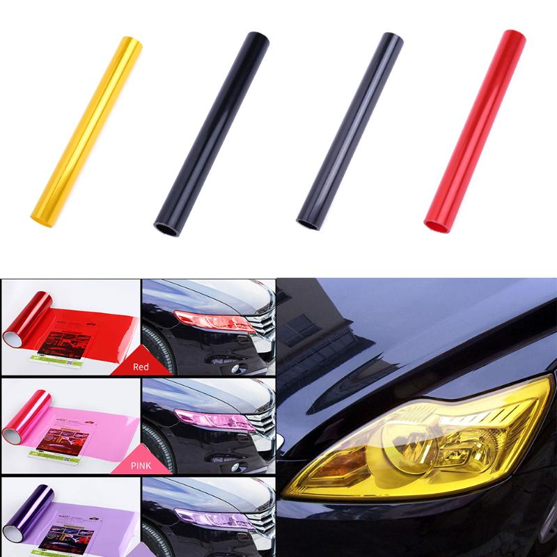 30x180cm Auto Car Styling Headlights Taillights Film Lights Turned Change Color Car Film Stickers for Universal Cars