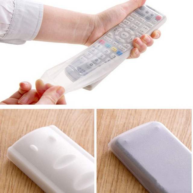 Silicone TV Remote Control Cover Air Condition Control Case Waterproof Dust Protective Storage Bag Organizer