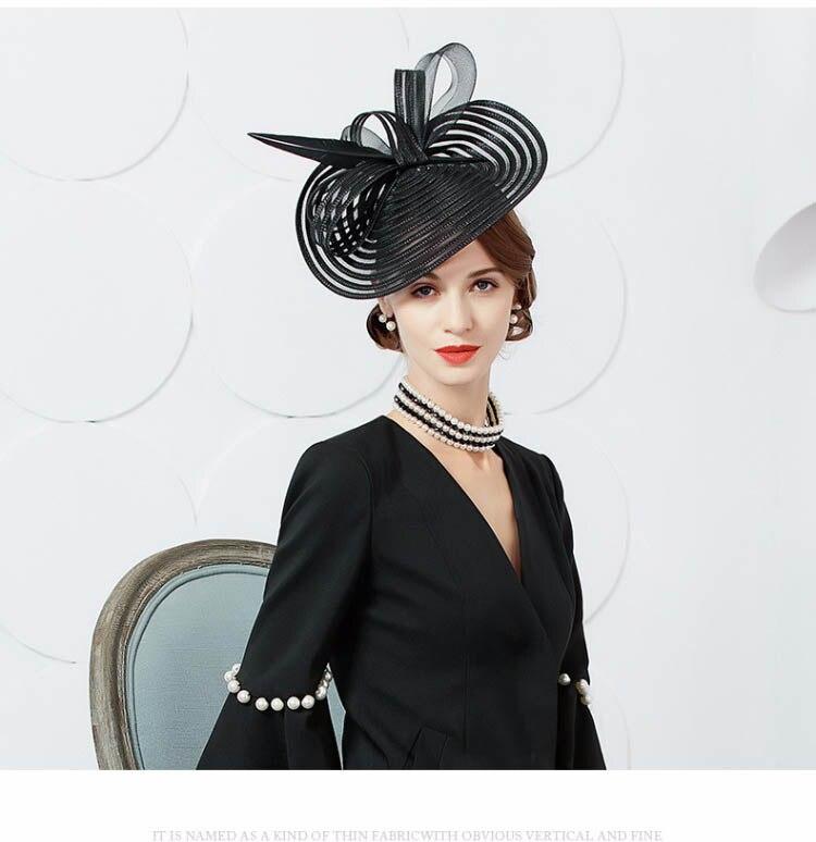 Detalle Comentarios Preguntas sobre FS negro elegante Boda sombreros ... ca35c3f8469f