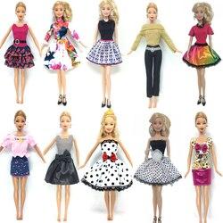 NK 10 Ensemble/lot Princesse Poupée Robe Noble Partie Robe Pour Barbie Poupée De Mode Conception Tenue Meilleur Cadeau Pour Fille