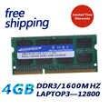 Kembona Notebook/módulo portátil de Memoria Ram SODIMM para DDR3L 1600, 1333 MHz, 4 GB/PC3-12800S PC3-10600S no ECC 204pin 1,35 V