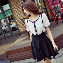dabuwawa summer blouse 2017 new big sizes fashion short sleeved slim casual shirt women pink doll