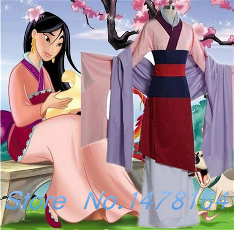 New Mulan Dress Adult Children Kids Full Set Halloween Party Cosplay Costume Outfit Custom Made size Free Shipping