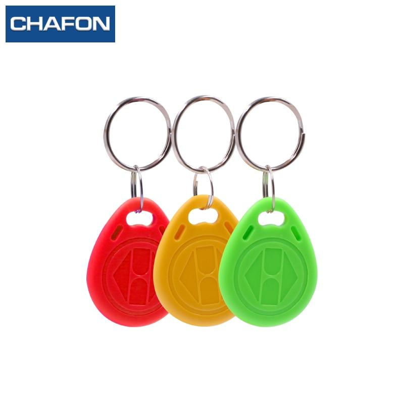 CHAFON 10pcs/lot 125Khz RFID Tag Proximity Keyfobs Ring TK4100 Access Control Tag 3 Colour For Access Control Time Attendance