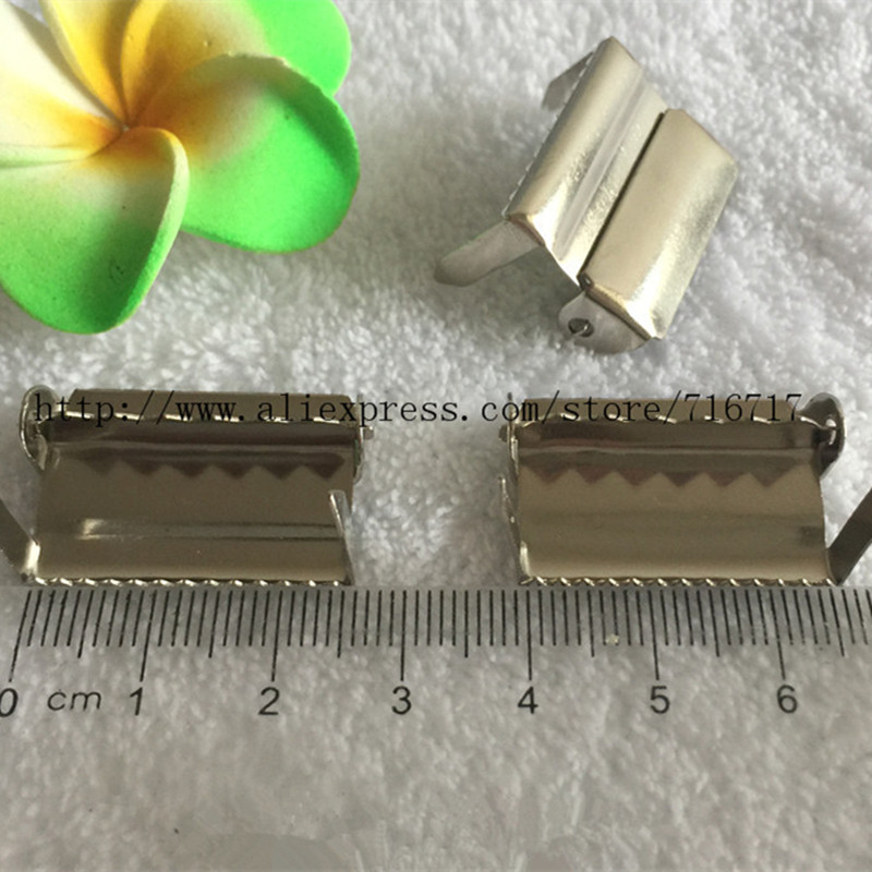 """OfficiëLe Website 1 """"2.5 Cm Sliver Metalen Bretels Aanpassing Gespen Craft Naaien Materialen Been Ratchet Voor Fopspeen Clip 100 Pcs"""