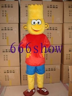 Livraison gratuite nouveau costume de mascotte de dessin animé Simpson