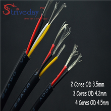 5m UL 2464 2C/3C/4C 24-28AWG Multi-core PVC jacket cable Tinned copper wire audio cable Shielded signal wire power cable belden 6500fe unreeled pkg 1000ft natural commercial audio systems 2c