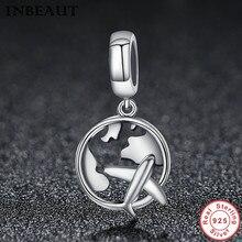 INBEAUT Princess Wedding Charm Bracelet 925 Sterling Silver Carved Sky Plane Chain Necklace Pendant Beads fit Pandora Bracelet